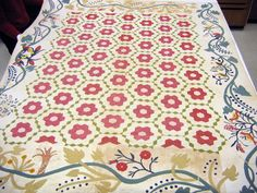 "Hexagon quilt, possibly New York, c. 1840-60, paper pieced, 101"" x 81"", cotton."