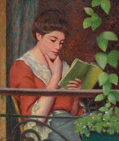 Woman Reading Painting - Reading Al Fresco by Federigo Zandomeneghi
