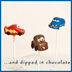 Cars cake pops ~ Inspired by the Disney/Pixar movie