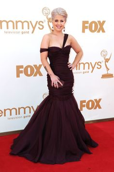 9. Kelly Osbourne the E! Fashion Police star knocked it out of the park in her burgundy J. Mendel mermaid gown, accented by a gorgeous pair of Katerina Maxine 18k white gold, ruby and diamond earrings with a matching ring.