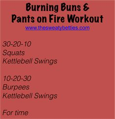 Kettlebell swings x 120... uh.. yeah. Buns and legs on fire!  ENJOY! (PIN THE WORKOUT BELOW!)\