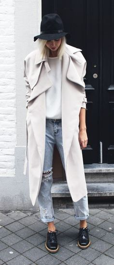 Keep it cool and polished with a flowy trench coat.