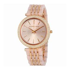 Michael Kors Womens Quartz Stainless Steel Automatic Watch ColorRose GoldToned Model MK4327 *** Want to know more, click on the image.