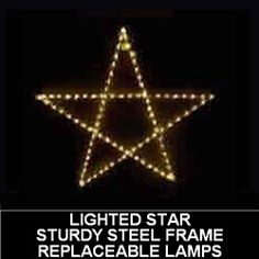 christmas star led lighted outdoor christmas decoration