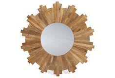 Wooden Sunburst Mirror on OneKingsLane.com
