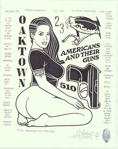 """Mike Giant """"Americans and Their Guns"""", permanent marker and pencil on fine drawing paper, Mike Giant, Chicano Tattoos, Chicano Art, Tattoo Drawings, Art Drawings, Desenhos Old School, Dessin Old School, Pin Up Girl Tattoo, Pop Art Drawing"""