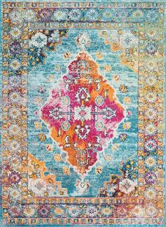 Rugs USA Blue Serendipity rug - Traditional Rectangle x Rugs On Carpet, Carpets, Buy Rugs, Rugs Usa, Carpet Design, Contemporary Rugs, Serendipity, Home Decor Items, Colorful Rugs
