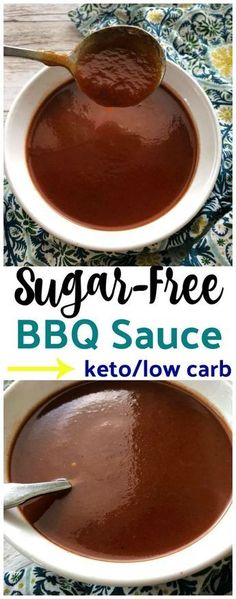 Homemade Sugar-Free Low Carb BBQ Sauce {keto friendly} is so easy to make and it tastes delicious. It tastes just like my daddy's homemade sauce! Source by celinay Related posts: Sugar Free, Low Carb & Keto Caramel Sauce Keto Bbq Sauce, Keto Sauces, Low Carb Sauces, Sugarfree Bbq Sauce Recipe, Sugar Free Barbeque Sauce Recipe, Low Sugar Bbq Sauce, Sugar Free Tomato Sauce, Sauce Barbecue, Bbq Sauces