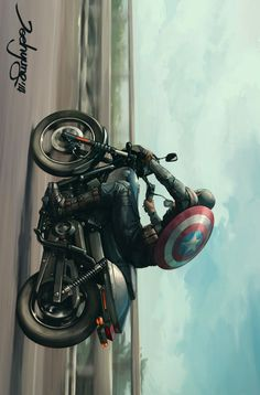 """extraordinarycomics: """"Captain America by JeeHyung Lee. """""""