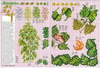 """ru / tymannost - Альбом """"Encyclopedie du point de croix ( Fleurs arbres et feuilles )"""" Cross Stitch, Diagram, Map, Gallery, Dots, Flowers, Leaves, Punto Croce, Crossstitch"""