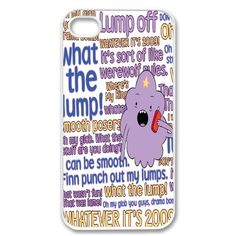 Apple iPhone 4 4G 4S Text Phone Lumpy Space Adventure Time WHITE Sides Slim HARD Case Skin Cover Protector Accessory Vintage Retro Unique AT Sprint Verizon Virgin Mobile by CaseCartel, http://www.amazon.com/dp/B00A7M6H5S/ref=cm_sw_r_pi_dp_MZlPqb0TQTEXM