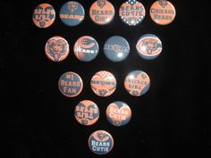 15 Chicago Bears flatback button or pin hair bow center cabochons embellishments