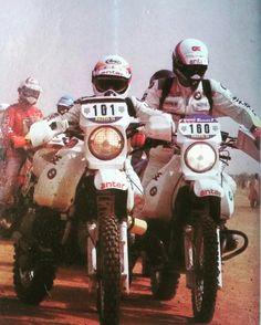 Superbe cliché !!!! Rahier et Auriol - Paris Dakar 1984
