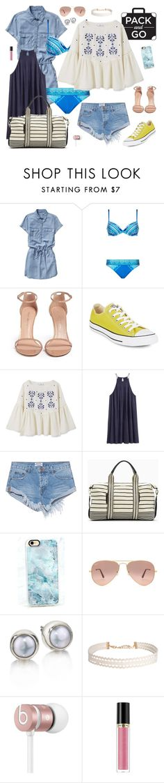 """""""Pack and Go: Labor Day"""" by fashionkookoo ❤ liked on Polyvore featuring Gap, Gottex, Stuart Weitzman, Converse, MANGO, H&M, One Teaspoon, Splendid, Casetify and Ray-Ban"""