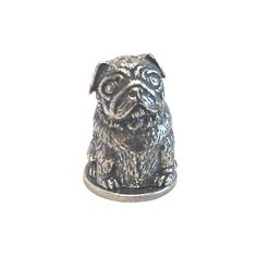 collectible thimbles | Pug Russian Doll Thimble Pewter Collectible Thimble Pug Gift