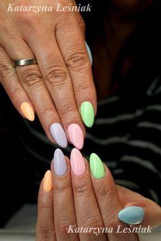 by Kasia Leśniak, Find more Inspiration at www.indigo-nails.com #Nails #Polish #pastel