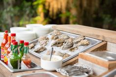 Oyster bar at the wedding reception or engagement party! #iloveswmag