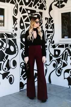 High Waisted Flared Pants | Dash of Darling | Bloglovin'