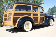 1948 International Woodie Station wagon. Recent full restoration by Mike Nickels.