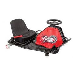 This is the Razor Crazy Cart and it's the ultimate drifting machine! The Razor Crazy Cart lets you drive, spin or even drift like a true drifting pro.<br /><br /> Thanks to its patented drift system you can change the rear caster angle so you can dri Go Karts For Kids, Kids Ride On, Cheap Scooters, Electric Go Kart, Karting, Bucket Seats, Courses, Bmx, Kids Toys