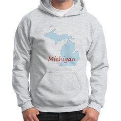 Gildan Hoodie (on man) - Michigan
