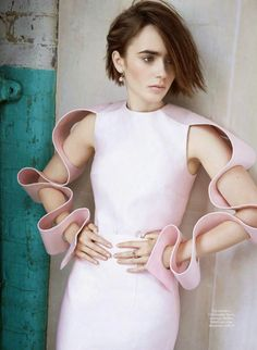 Lily Collins for Marie Claire France, October 2014