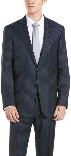 fe2f220c7 Hart Schaffner Marx Wool Suit. Color/pattern: navy Jacket: Approximately  29in from shoulder to hem Design details: notch lapel, left chest pocket,  ...
