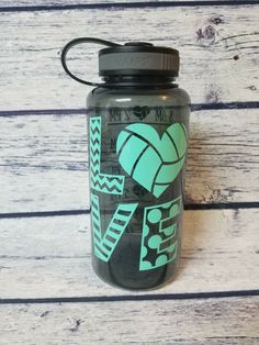 Gym Water Bottle, Large Water Bottle, Custom Water Bottles, Volleyball, Training, Etsy Shop, Drinks, Gifts, Drinking