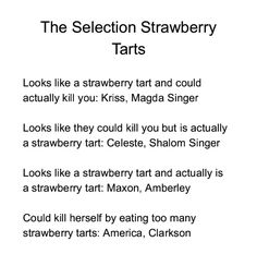 Selection, as Strawberry Tarts instead of cinnamon rolls.
