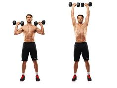 Shoulder Dumbbell Exercises are great for mixing up your normal gym routine or if you're wanting to perform an effective home-workout! Shoulder Mass Workout, Dumbbell Shoulder Press, Shoulder Training, Shoulder Exercises, Dumbbell Workout Routine, Gym Routine, Dumbbell Exercises, Workout Routines, Arm Workouts