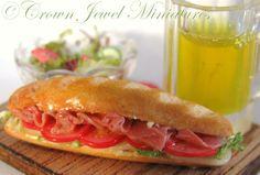 Gent's lunch - hero sandwich, salad & beer!  :0)