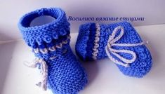 baby booties knitting tutorial baby booties knitting for beginners All Free Crochet, Crochet For Kids, Crochet Baby, Knit Crochet, Crochet Stitches, Knit Baby Shoes, Knit Baby Dress, Baby Boots, Knitted Booties