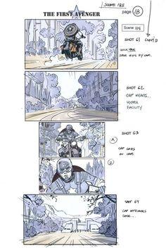 "fystoryboards: "" Captain America: The First Avenger (2011) Director: Joe Johnston Artist: Rodolfo Damaggio """