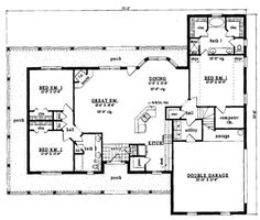 ideas about One Level House Plans on Pinterest   House plans       ideas about One Level House Plans on Pinterest   House plans  Floor Plans and Home Plans