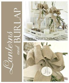 519 Best Burlap Ideas Images Hessian Fabric Burlap Crafts Bricolage
