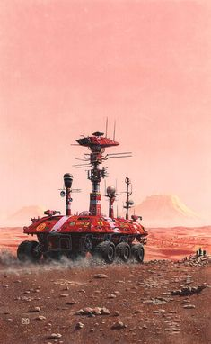 A Martian Odyssey by Peter Elson, Science Fiction Illustrator #peterelson