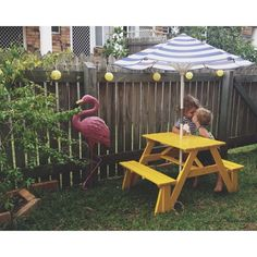 Love This Kid Picnic Table.