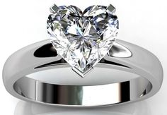 Heart Cut Cathedral Style Engagement Ring Available in 14K, 18K and Platinum with Optional Matching Band. Agape Diamonds. Man made diamonds. Wedding. Engagement ring. Wedding ring. Bridal. Gold. Platinum. Diamond. Simulated diamond.