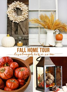 Sharing some of my fall decor to inspire! I love using a lot of natural elements. @livelaughrowe fall home tour