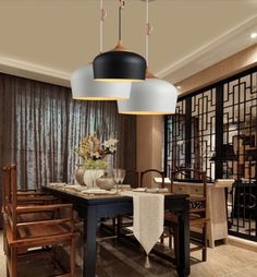 Modern Black White Pendant Light Kitchen Lamps Dinning Room Bar Lighting Fixture Wood Lamp-in Pendant Lights from Lights & Lighting on Aliexpress.com   Alibaba Group