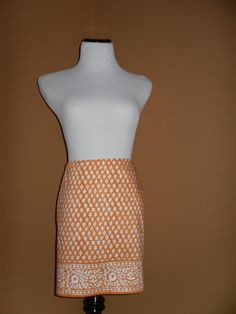 NWT J CREW Women's Factory Printed Mini Skirt, ORANGE, Size 6 SOLD OUT ONLINE