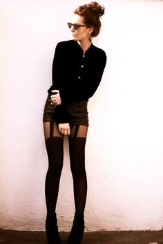 I love these tights with this outfit, its sexy but not tacky.