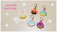 カップケーキのピアスの作り方(再1)パーラービーズ・アイロンビーズで簡単に☆ diy cupcake earrings perler beads...