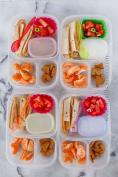 Quesadillas packed for lunch with @EasyLunchboxes containers