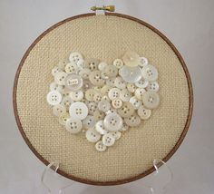 Charming button hanging