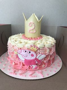 Peppa the Pig princess cake