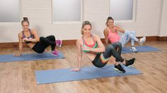 Bikini-Body HIIT Workout This Do-Anywhere Bikini Circuit Crushes Calories (and Your Excuses): Barry's Bootcamp Instructor Astrid Swan brings that Bikini Fitness, Bikini Workout, Body Fitness, Pilates Training, Pilates Workout, Zumba Workout Videos, Zumba Videos, Pilates Video, Hiit