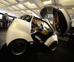 Doking XD City Car    Created by Croatian industrialist Vjekoslav Majetic, the Doking XD City Car debuted at the LA Auto Show last year. Coming in at only nine feet long, this dual-winged car can sit three people (one in the front, two in the back), and give the Smart car a run for its money when looking for tiny parking spots.  The DORKing?