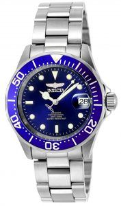 Invicta Pro Diver 9094  40 mm in Stainless SteelCase | Glass | BraceCaseDiameter = 40 mmHight = 14 mmMaterial = Stainless SteelCase Tone = Stainless SteelBezel Function = Uni-directionalBezel Mater...
