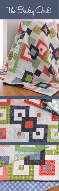 Bailey Quilt Pattern by She Quilts A Lot. A Fat Quarter Friendly Quilt Pattern